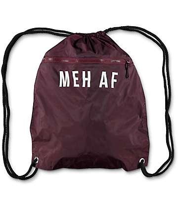 Empyre Meh AF Burgundy Cinch Bag