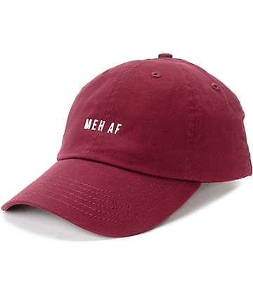Empyre Meh AF gorra béisbol en color borgoño
