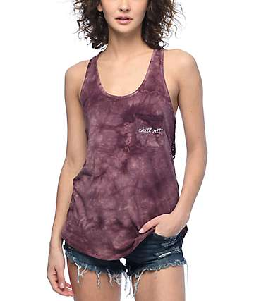 Empyre Micah Chill Out camiseta sin mangas con efecto tie dye