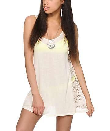 Empyre Mija Cream Crochet Inset Dress