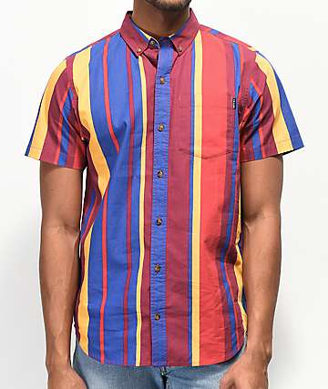 Empyre Mikey Port Royale Stripe Shirt Sleeve Button Up