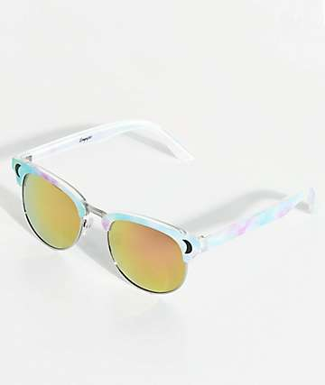 Empyre Mystic Moons Pink Retro Sunglasses