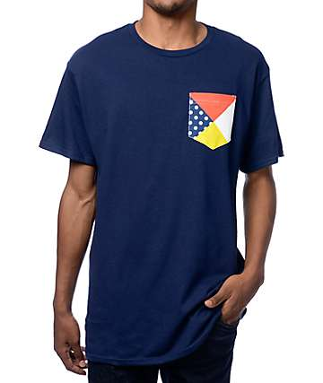 Empyre Nautical Vibes Navy Pocket T-Shirt