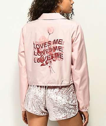 Empyre Noella Loves Me chaqueta entrenador corta en rosa