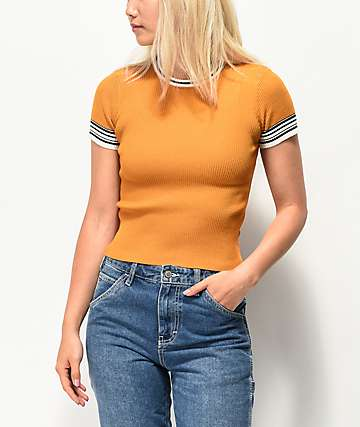 Empyre Norie camiseta de punto naranja