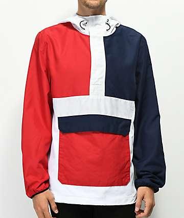 Empyre Olympic chaqueta anorak roja, blanca, y azul