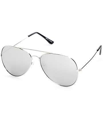 Empyre Opie Silver Aviator Sunglasses