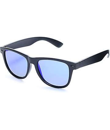 Empyre Orwell Classic Matte Black & Blue Sunglasses