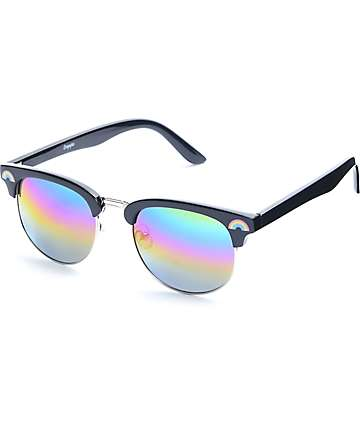 Empyre Over It Clubmaster Black Rainbow Sunglasses