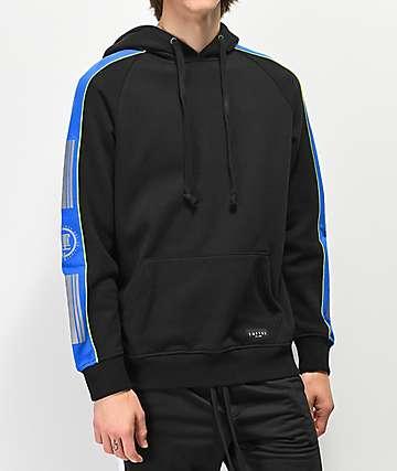 Empyre Pacer sudadera con capucha negra, azul y verde