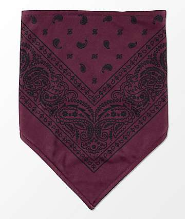 Empyre Paisley Maroon & Black Facemask
