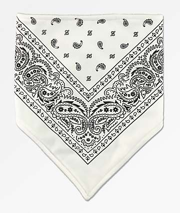Empyre Paisley White & Black Facemask