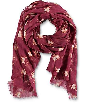 Empyre Pam Floral bufanda en color borgoño