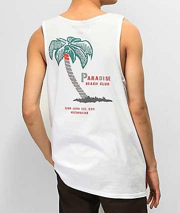 Empyre Paradise Club White Tank Top