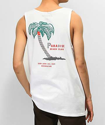 Empyre Paradise Club White Tank Top