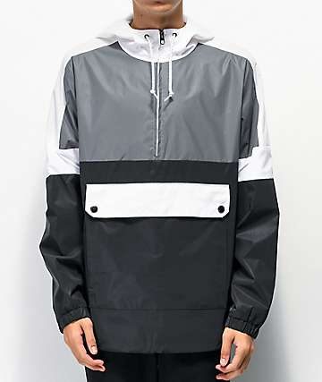Empyre Pauly Reflective Black & Grey Anorak Jacket