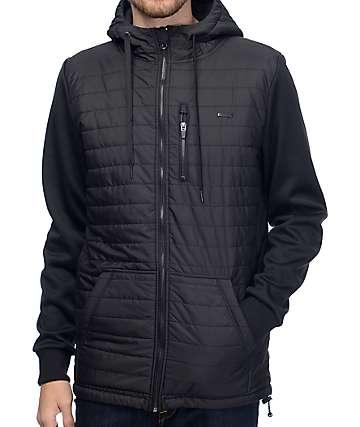 Empyre Peak chaqueta polar acolchada con cremallera en negro