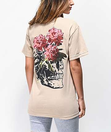 Empyre Photo Skull camiseta marrón