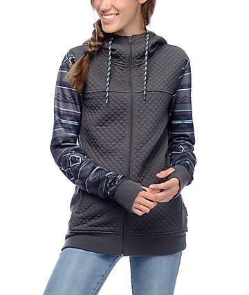Empyre Potosi Grey & Mint Tribal Tech Fleece Jacket