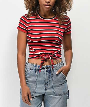 Empyre Raelynn camiseta roja de rayas