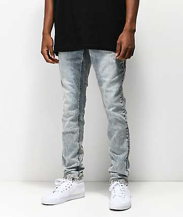 Empyre Recoil Brett jeans súper ajustados con lavado azul claro