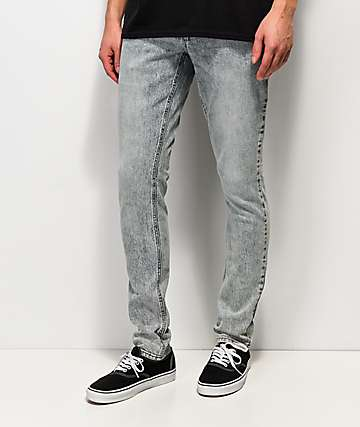 Empyre Recoil Light Blue Acid Wash Super Skinny Jeans
