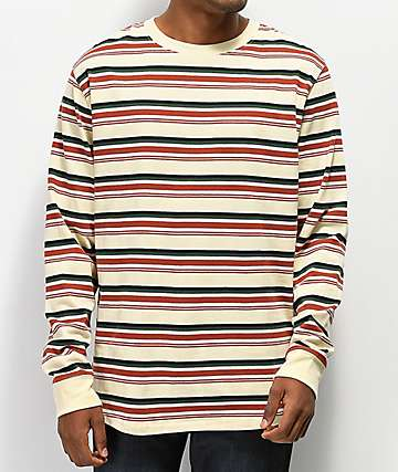 Empyre Recon Striped Tan Long Sleeve T-Shirt