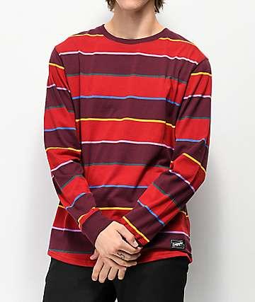 Empyre Recon camiseta de manga larga de rayas rojas