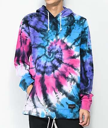 Empyre Reef Tie Dye Pink, Blue & Purple Hoodie