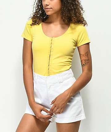Empyre Reeves camiseta corta amarilla con ganchos