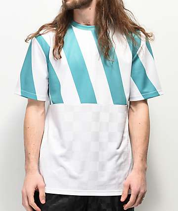 Empyre Ref White & Teal Soccer Jersey