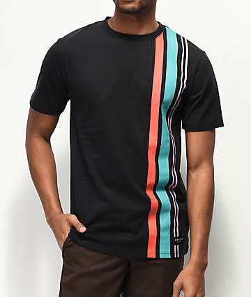 Empyre Relay Vertical Striped Black T-Shirt