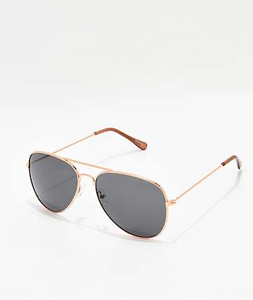 Empyre Remington Rose Gold & Black Sunglasses
