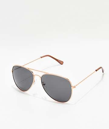 Empyre Remington Rose Gold & Black Sunglasses