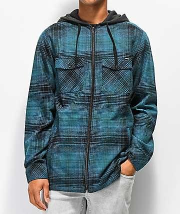 Empyre Retreat camisa de franela azul y negro