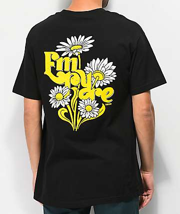 Empyre Retro Daisies Black T-Shirt