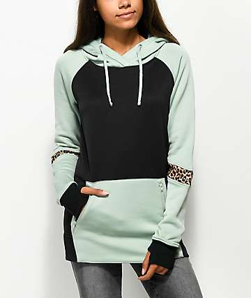 Empyre Ridgeline Tech Fleece Black, Green & Cheetah Hoodie