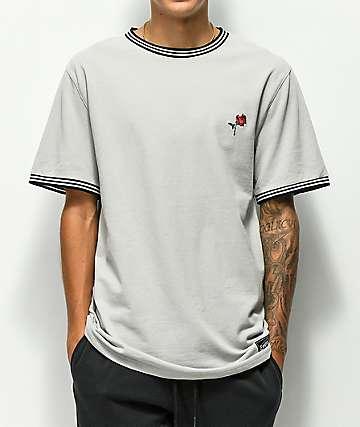 Empyre Ringo Grey Pique Knit T-Shirt