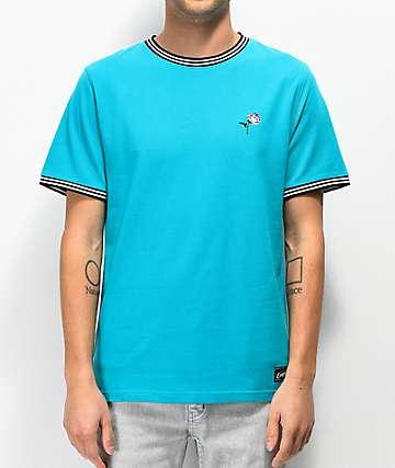 Empyre Ringo camiseta de punto piqué verde azul