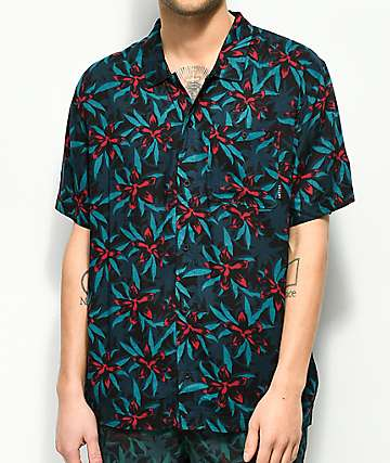 Empyre Robert Dark Tropical Slink Woven Shirt