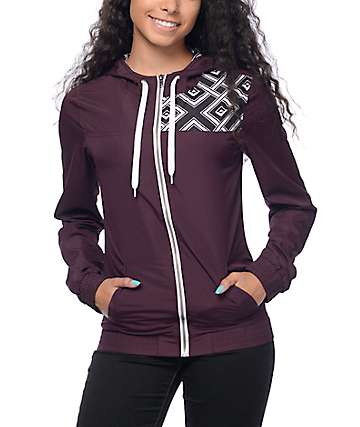 Empyre Roni Blackberry Geo Print Windbreaker