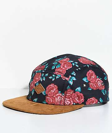 Empyre Rose Black 5 Panel Strapback Hat