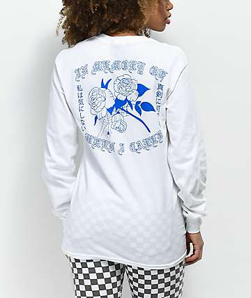 Empyre Rose Cared White Long Sleeve T-Shirt