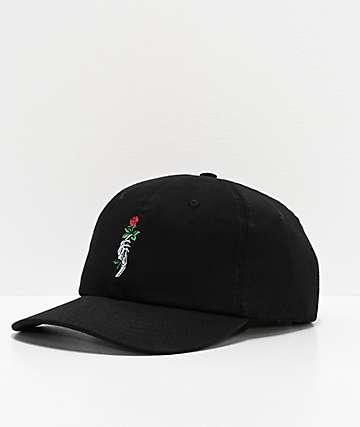 Empyre Rose Hand Black Strapback Hat