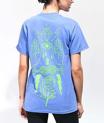 Empyre Rose Overload camiseta azul neón