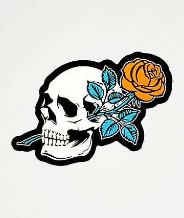 Empyre Rose Skull Sticker