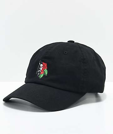 Empyre Rose Wolf Black Dad Hat f2aa7685621