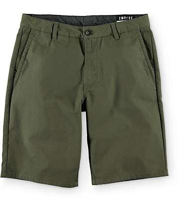 Empyre Rowdy chinos cortos en verde oscuro