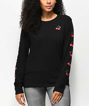 Empyre Rubino Cherry Black Long Sleeve T-Shirt