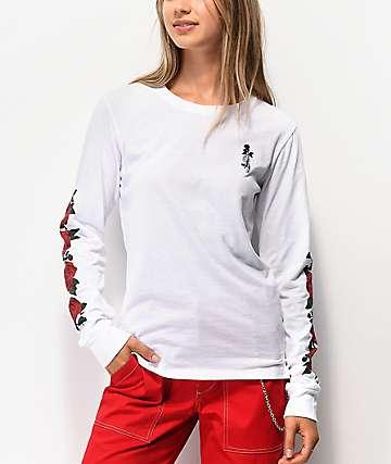 Empyre Rubino Roses White Long Sleeve T-Shirt